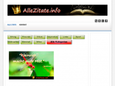 Screenshot der Domain allezitate.de