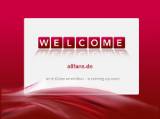 Screenshot der Domain allfans.de