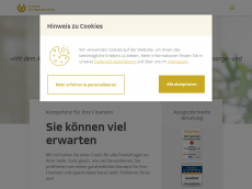 Screenshot der Domain allfinanz-berater.de