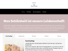 Screenshot der Domain allforbeauty.de