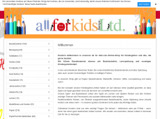 Screenshot der Domain allforkids-ltd.de