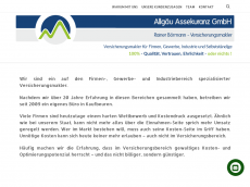 Screenshot der Domain allgaeu-assekuranz.de