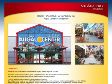 Screenshot der Domain allgaeu-center.de