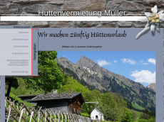 Screenshot der Domain allgaeu-huetten.de