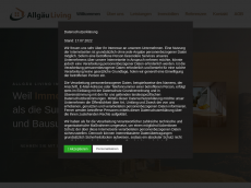 Screenshot der Domain allgaeu-living.de