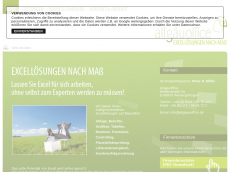 Screenshot der Domain allgaeu-office.com