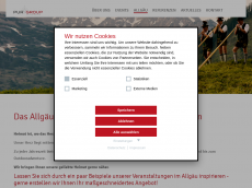 Screenshot der Domain allgaeu-pur.de