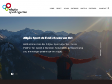 Screenshot der Domain allgaeu-sport.de