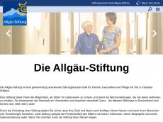 Screenshot der Domain allgaeu-stiftung.de