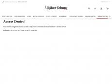 Screenshot der Domain allgaeu-ticket.de
