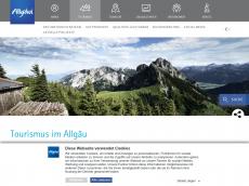 Screenshot der Domain allgaeu-tourismus.de