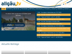 Screenshot der Domain allgaeu-tv.de