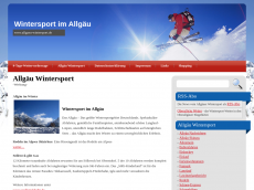 Screenshot der Domain allgaeu-wintersport.de