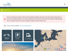 Screenshot der Domain allgaeuairport.de