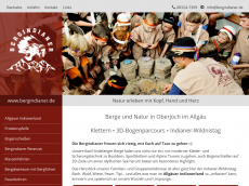 Screenshot der Domain allgaeuer-indianerland.de