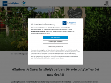 Screenshot der Domain allgaeuer-kraeuterland-hoefe.de