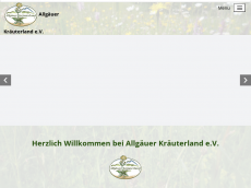 Screenshot der Domain allgaeuer-kraeuterland.de