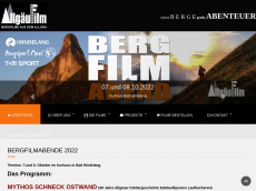 Screenshot der Domain allgaeufilm.de