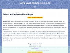 Screenshot der Domain allgaeuflughafen.de