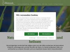 Screenshot der Domain allgaeunah.de