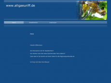 Screenshot der Domain allgaeuriff.de
