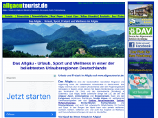 Screenshot der Domain allgaeutourist.de