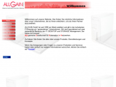 Screenshot der Domain allgain.de