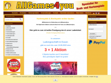 Screenshot der Domain allgames4you.de