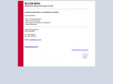 Screenshot der Domain allge-bau.de