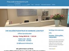 Screenshot der Domain allgemeinarzt-lokstedt.de
