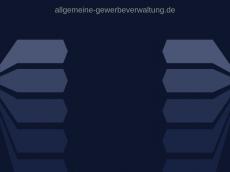 Screenshot der Domain allgemeine-gewerbeverwaltung.de