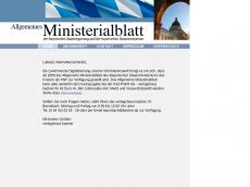 Screenshot der Domain allgemeines-ministerialblatt.de