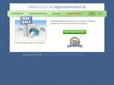 Screenshot der Domain allgemeinkonkret.de