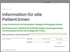 Screenshot der Domain allgemeinmedizin-erbach.de