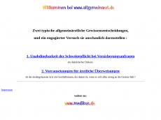 Screenshot der Domain allgemeinmedizin.de