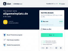 Screenshot der Domain allgemeinplatz.de