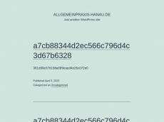 Screenshot der Domain allgemeinpraxis-hanau.de