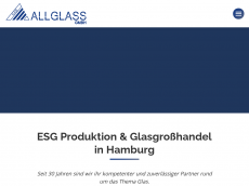 Screenshot der Domain allglas.de