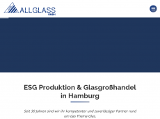 Screenshot der Domain allglass.de