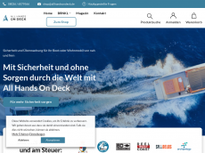 Screenshot der Domain allhandsondeck.de