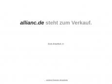 Screenshot der Domain allianc.de