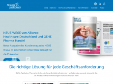 Screenshot der Domain alliance-healthcare.de