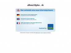 Screenshot der Domain allianz-50plus.de
