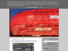Screenshot der Domain allianz-arena.blogspot.com