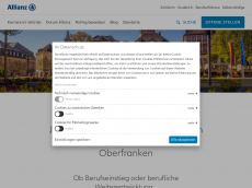 Screenshot der Domain allianz-bayreuth.de