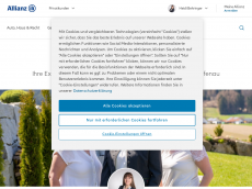 Screenshot der Domain allianz-behringer.de