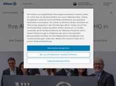 Screenshot der Domain allianz-bender-mueller.de
