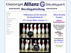 Screenshot der Domain allianz-bowling-stuttgart.de
