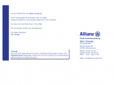 Screenshot der Domain allianz-denda.de