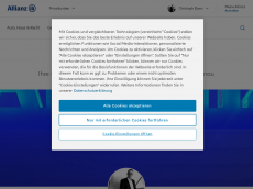 Screenshot der Domain allianz-eberz.de